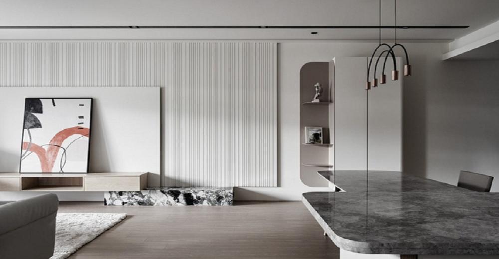 松江110平三室一厅北欧风格样板房